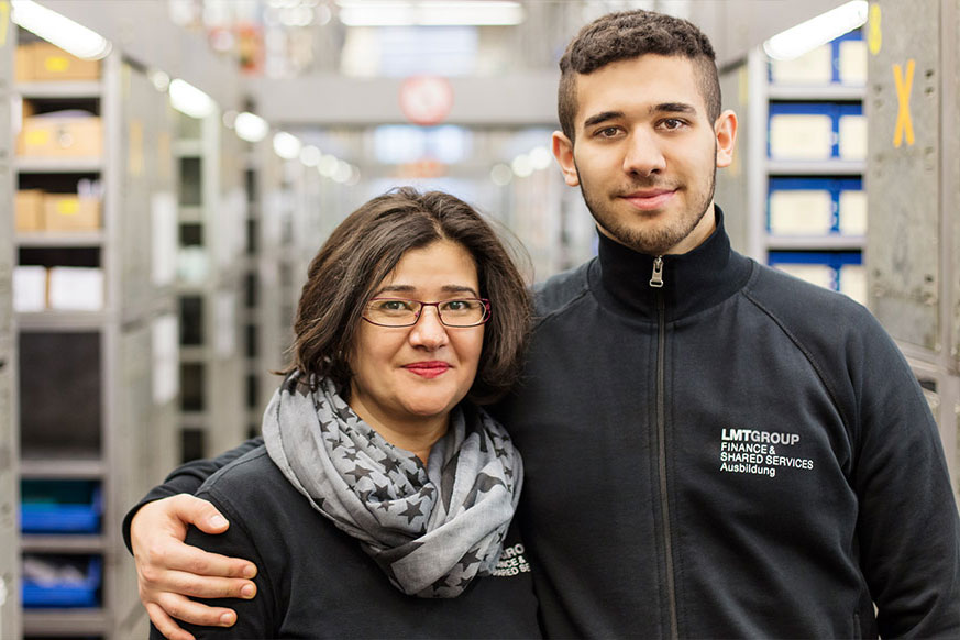 Fatih Erdem, Warehouse logistics Apprentice and his mother Cevriye Seyhan, warehouse assistant